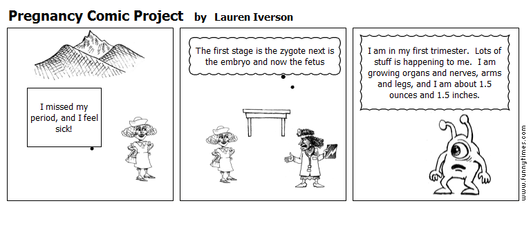 Pregnancy Comic Project by Lauren Iverson