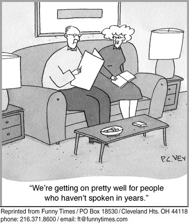 Funny marriage relationship aging  cartoon, May 28, 2014
