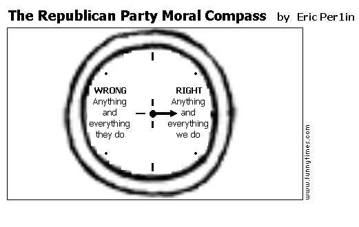 The Republican Party Moral Compass by Eric Per1in