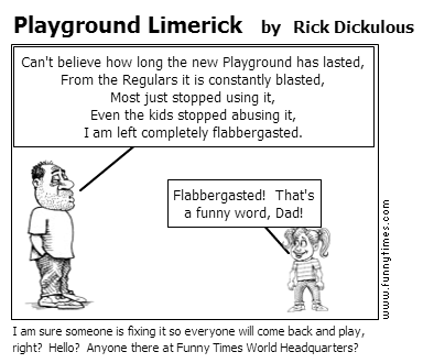 Playground Limerick by Rick Dickulous