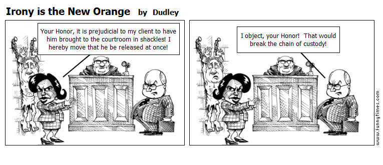 Irony is the New Orange by Dudley