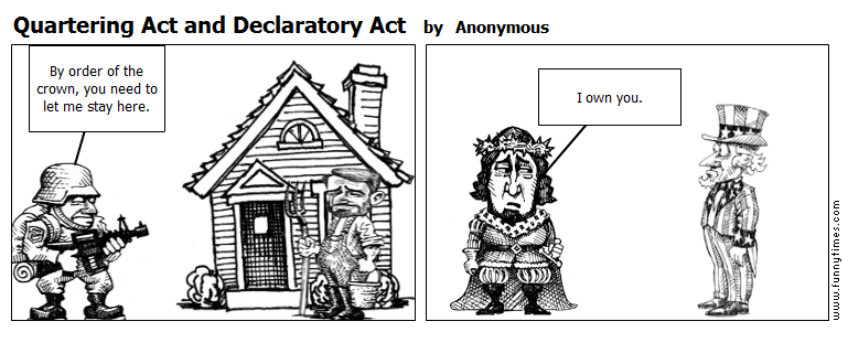 Quartering Act and Declaratory Act by Anonymous