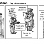 Cold War political Cartoon.