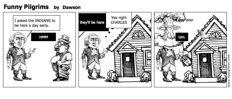 Funny Pilgrims by Dawson