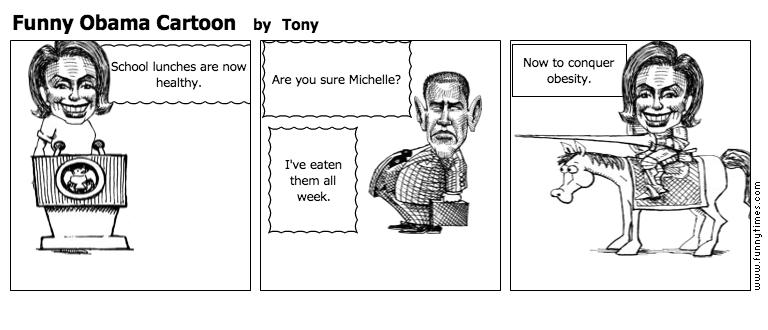Funny Obama Cartoon by Tony