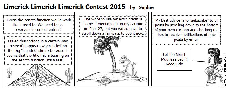 Limerick Limerick Limerick Contest 2015 by Sophie