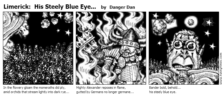 Limerick His Steely Blue Eye... by Danger Dan