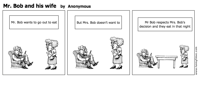 Mr. Bob and his wife by Anonymous