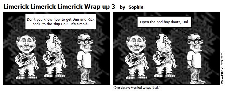 Limerick Limerick Limerick Wrap up 3 by Sophie