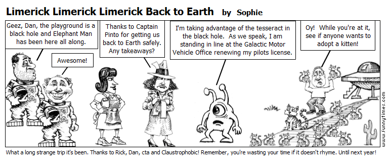 Limerick Limerick Limerick Back to Earth by Sophie