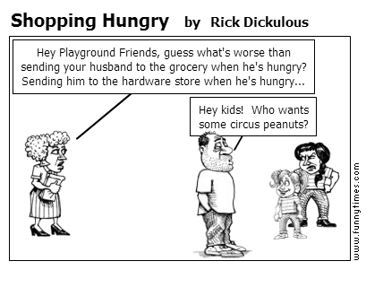 Shopping Hungry by Rick Dickulous