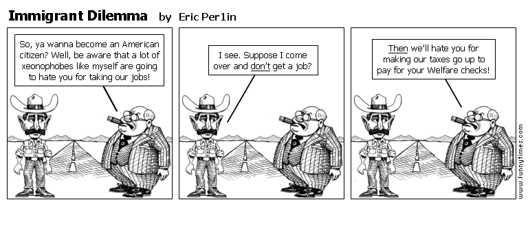 Immigrant Dilemma by Eric Per1in