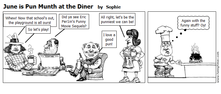 June is Pun Munth at the Diner by Sophie