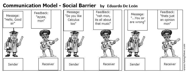 Communication Model - Social Barrier by Eduardo De Len
