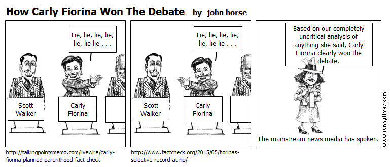 How Carly Fiorina Won The Debate by john horse