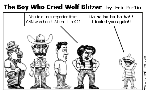 The Boy Who Cried Wolf Blitzer by Eric Per1in