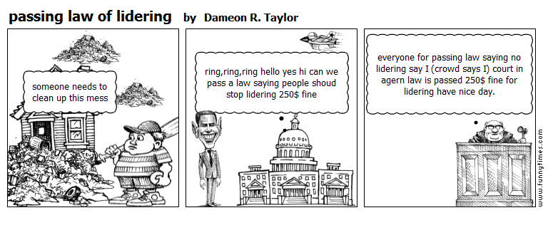 passing law of lidering by Dameon R. Taylor