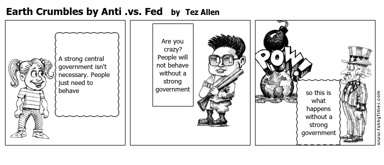 Earth Crumbles by Anti .vs. Fed by Tez Allen
