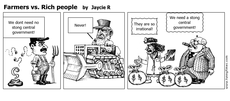 Farmers vs. Rich people by Jaycie R