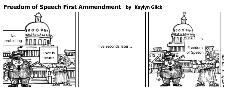 Freedom of Speech First Ammendment by Kaylyn Glick