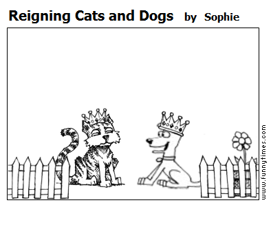 Reigning Cats and Dogs by Sophie