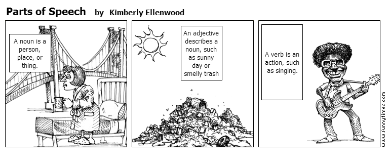 Parts of Speech by Kimberly Ellenwood