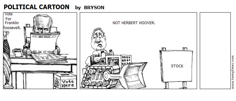 POLITICAL CARTOON by BRYSON