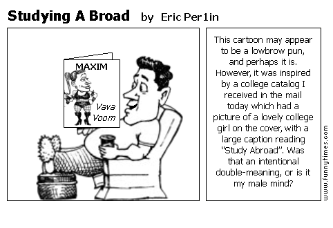 Studying A Broad by Eric Per1in