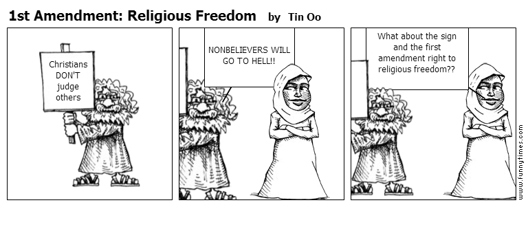 1st Amendment Religious Freedom by Tin Oo