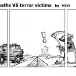 Statistics traffic deaths VS terror vict