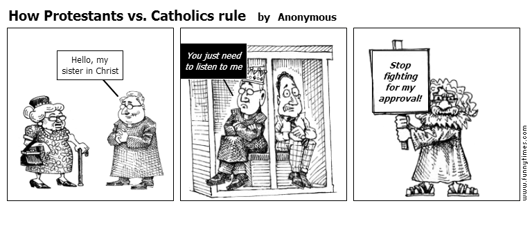 How Protestants vs. Catholics rule by Anonymous