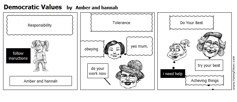 Democratic Values by Amber and hannah