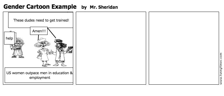 Gender Cartoon Example by Mr. Sheridan