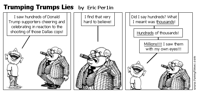 Trumping Trumps Lies by Eric Per1in