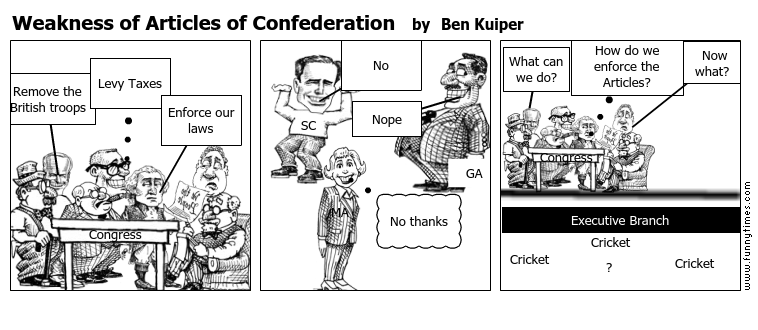 Weakness of Articles of Confederation \u2013 The Funny Times