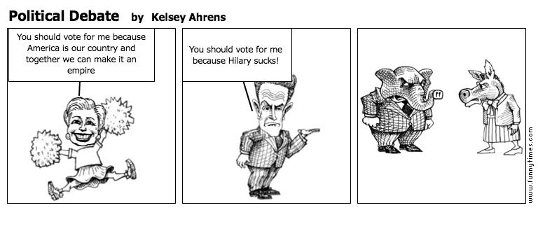 Political Debate by Kelsey Ahrens