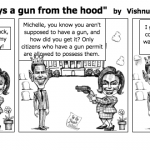 """Michelle Obama buys a gun from the hoo"