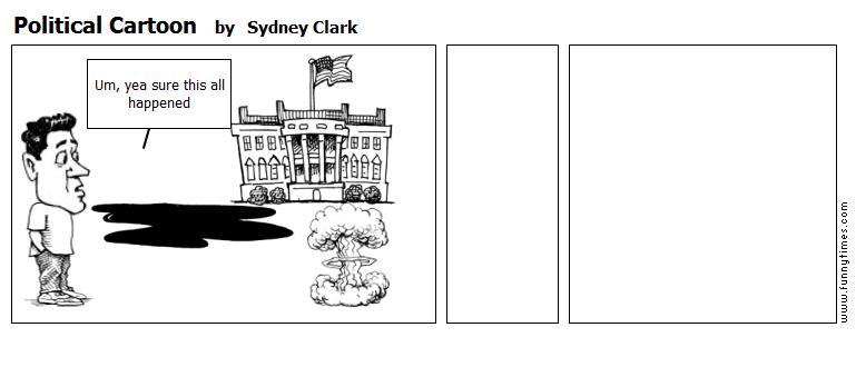 Political Cartoon by Sydney Clark