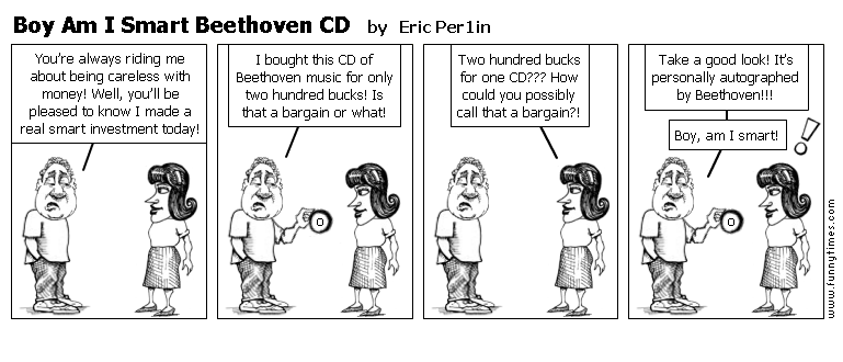 Boy Am I Smart Beethoven CD by Eric Per1in