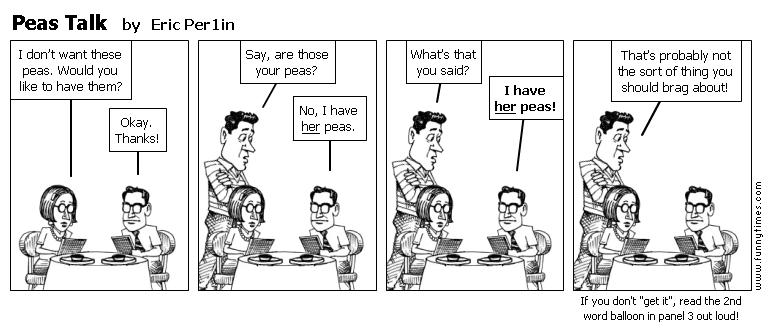 Peas Talk by Eric Per1in