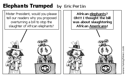 Elephants Trumped by Eric Per1in