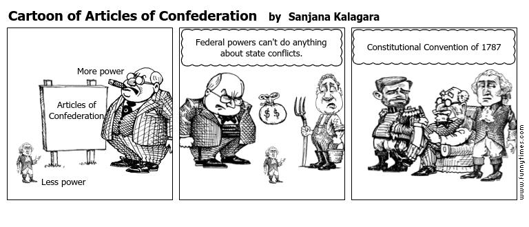 Articles Of Confederation Political Cartoon Ideas