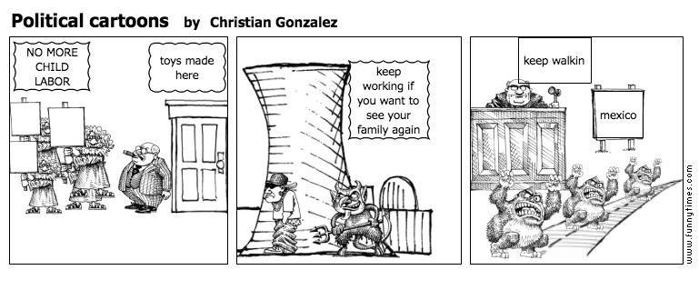 Political cartoons by Christian Gonzalez