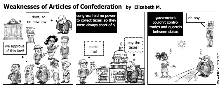 Weaknesses of Articles of Confederation \u2013 The Funny Times