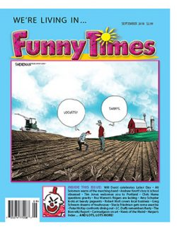 Funny Times September 2018 Issue Cover farm tarriffs