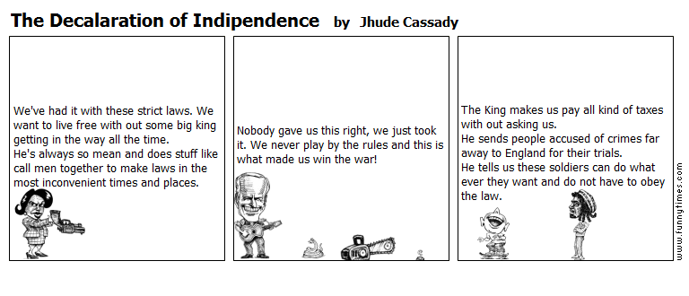The Decalaration of Indipendence by Jhude Cassady