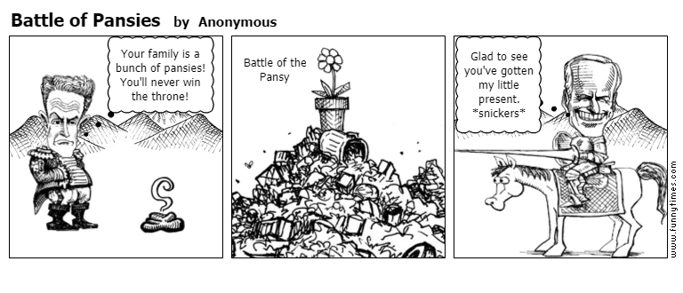 Battle of Pansies by Anonymous