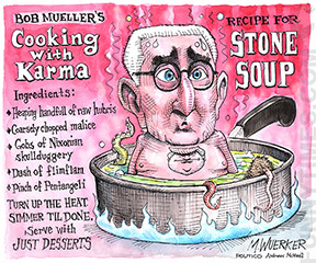 Matt Wuerker's (Roger) Stone Soup editorial cartoon