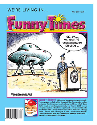 July 2019 Funny Times Cover - Granlund UFOs