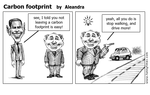 Carbon footprint by Aleandra